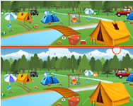 Camping spot the difference online játék